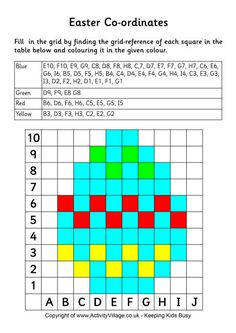 Easter coordinates - Easter egg puzzle - Cute way to learn coordinates! Easter Puzzles, Puzzles For Kids, Twister Quilts, Free Printable Puzzles, Safety Pin Crafts, Pixel Art Grid, Pixel Drawing, Preschool Math, Maths
