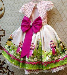 Vestido de Masha y el Oso  Dress Masha
