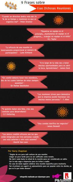 """Humor: Infografía con 9 frases sobre """"Esas dichosas reuniones"""" de Jose Antonio Antolín"""