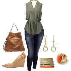 plus size/weekend chic, created by kristie-payne on Polyvore