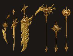 마력제작_무기 01 Fantasy Demon, Fantasy Sword, Fantasy Weapons, Robot Concept Art, Armor Concept, Weapon Concept Art, Dragon Nest, Cool Swords, Arte Robot