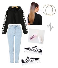 """""""Untitled #76"""" by haileymagana on Polyvore featuring Vans and Sterling Forever"""