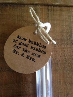 50 Rustic Wedding Bubble Tags