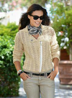 Cat. 13/14 - #776 - Crochet biker jacket