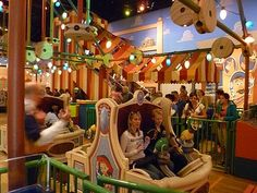Toy Story Midway Mania -- Do this first ... or you might not have a chance!  Best ride EVER!!!