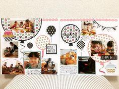 いいね!50件、コメント14件 ― sachiko hondaさん(@sachi.ako)のInstagramアカウント: 「新しいペーパー、ソワレ(*゚v゚*)♡ エンバリッシュに合わせて、風船レイアウト♪ めっちゃ、かわいい〜♡ 自画自賛(^_^) シンプルだけど、お気に入り(o^^o)♪…」