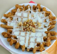 HEALTHY carrot cake waffles. http://chocolatecoveredkatie.com/2013/03/22/super-healthy-carrot-cake-waffles/