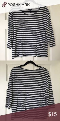 Perfect 3/4 Tee Striped 3/4 tee shirt from the GAP. excellent condition GAP Tops