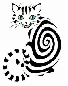 The Cheshire Cat; Alice in Wonderland. Cheshire Cat Tattoo, Cheshire Cat Drawing, Cat Tattoo Designs, Illustration Art, Illustrations, Arte Pop, Pics Art, Cat Art, Alice In Wonderland