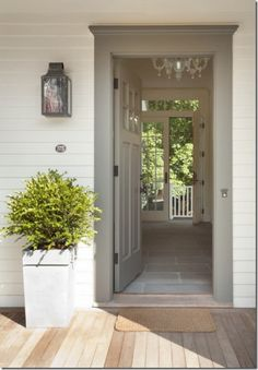 Love all the looks happening here! all-american home front door white