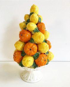 Vintage orange lemon Italian topiary  PKL THE CELLAR