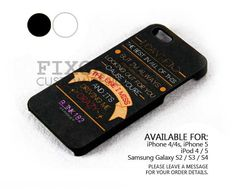 Blink 182 after midnight lyric case for iPhone 4/4S/5 iPod 4/5 Galaxy S2/S3/S4