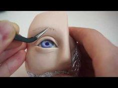 авторская кукла вживление бровей - YouTube