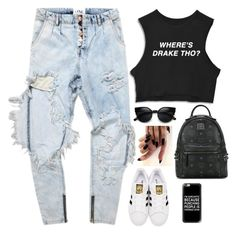"""""""Untitled #356"""" by nun-for-free ❤ liked on Polyvore featuring MCM, adidas Originals and Casetify"""