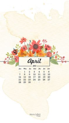 { free april 2013 calendar wallpapers }