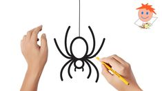 Lets learn how to draw a spider step by step. This is a video tutorial on how to draw a spider easy. Spider Drawing, Spider Art, Easy Halloween Drawings, Easy Drawings, Halloween Spider, Halloween Kids, Halloween Costumes, Easy Drawing Steps, Step By Step Drawing