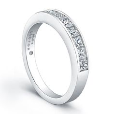 Jeff Cooper R3146B Wedding Ring  This Jeff Cooper wedding band is from the Engagement Classics Collection and it has channel set princess cut diamonds.
