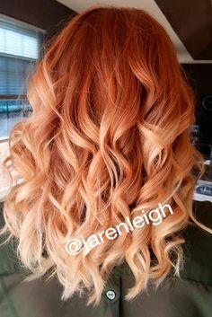 Trendy Hair Balayage Red Blonde Ombre Ideas Red Hair red to blonde hair Red Blonde Hair, Red Ombre Hair, Ombre Hair Color, Hair Color Balayage, Ombre Brown, Auburn Ombre, Hair Colors, Ombre Balayage, Auburn Balayage