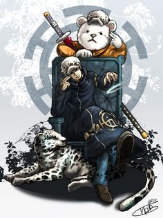 Trafalgar D. Water Law and Bepo One piece art