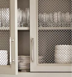 mesh front kitchen cabinets - Google Search