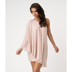 Lipsy Embellished Cape Sleeve One Shoulder Dress and other apparel, accessories and trends. Browse and shop related looks.