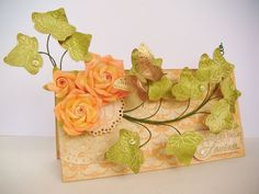 and ivy branch tutoril Diy Flowers, Paper Flowers, Ribbon Flower Tutorial, Felt Fabric, Ivy, Challenge, Roses, Tutorials, Cards