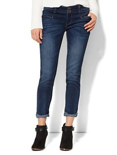 Shop Soho Jeans - New York Boyfriend - Stormy Sky Wash . Find your perfect size online at the best price at New York & Company.