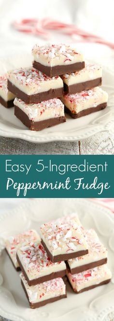 This Easy Peppermint Fudge features two layers of decadent fudge and is full of peppermint flavor. The perfect treat for Christmas! Holiday Baking, Christmas Desserts, Christmas Treats, Christmas Baking, Holiday Treats, Holiday Recipes, Winter Recipes, Christmas Cookies, Fudge Recipes