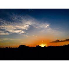 Sun goes down   🌅