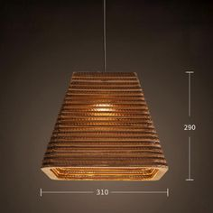 Luminaria Corrugated Board Pendant Light – Tudo And Co Wood Slat Ceiling, Wood Slats, Hanging Lights, Room Lights, Ceiling Lights, Modern Pendant Light, Pendant Lighting, Chandelier, Led Light Box