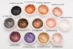 Here's a lovely palette of handmade vegan makeup; she will custom blend specific colors, too!   Eyeshadow Mineral MakeUp by nakedeyebeauty