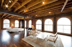 industrial loft apartment - this would be mine if I was rich and lived in the city