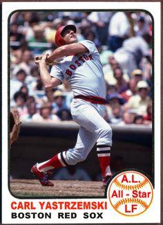 1973 Topps Carl Yastrzemski All-Star. Baseball Cards That Never Were, Boston Red Sox