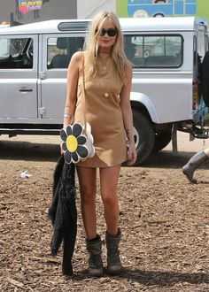 Presenter Laura Whitmore, who was hanging out with her One Direction ex Niall Horan the night before, works the flower power.   - HarpersBAZAAR.com