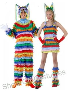 pinata mexican fiesta mens ladies fancy dress costumes ebay - Mexican Themed Halloween Costumes