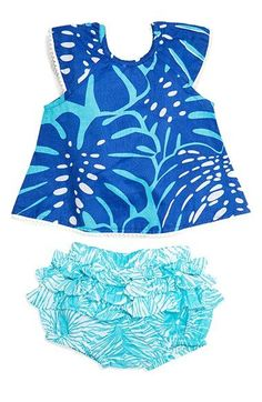Masalababy 'Flutter' Top & Shorts Set (Baby Girls)