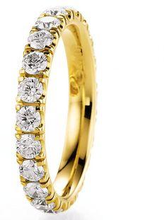 Verlobungsring Gelbgold Forever by verlobungsring.de #forever #delicate #gold