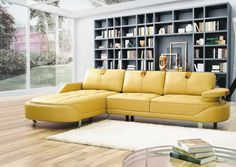 Home Design and Interior Design Gallery of Au Sleepers American Leather With Yellow Color Design