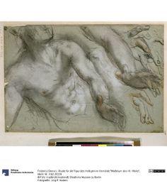 """Federico Barocci - Figure Studies c. 1580-83 (Studie für die Figur des Heiligen im Gemälde """"Martyrium des Hl. Vitalis""""); Staatliche Museen zu Berlin"""