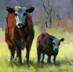 Mom and Me by Trisha Adams Oil ~ 12 x 12