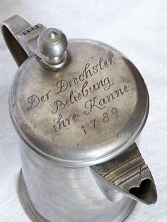 Flask, Tin, Ebay, Silver, Pewter, Baroque, Money
