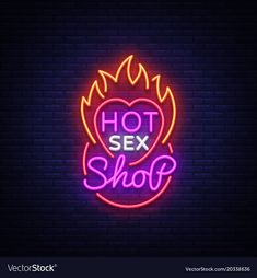 Design pattern, hot sex shop neon sign, light banner on the theme of the sex industry, bright neon advertising for your projects. Pub Design, Sign Design, Pop Art Wallpaper, Modern Disney, Shop Logo, Shop Signs, Pattern Design, Vector Free, Neon Style