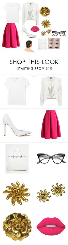 """""""Office Look"""" by fashionqueens1 ❤ liked on Polyvore featuring Monki, Milly, Chicwish, Carvela, Chanel and Lime Crime"""