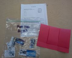Main idea and foldable to go with it! Put pictures in a bag, then have students infer the main idea!