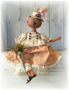 круглоголовые Halloween Doll, Halloween Goodies, Halloween Projects, Vintage Halloween, Halloween Pumpkins, Halloween Decorations, Primitive Pumpkin, Primitive Crafts, Holiday Themes