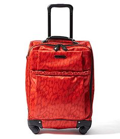 Betsey Johnson Glam Cheetah upright #suitcase #red