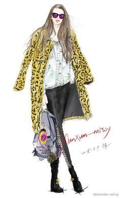 手绘 时装...来自晨紫薇光的图片分享-堆糖 Fashion Illustration Dresses, Beauty Illustration, Fashion Sketches, Fashion Illustrations, Fashion Art, Fashion Models, Fashion Beauty, Womens Fashion, Fashion Design