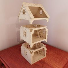 Modular dollhouse pattern for CNC router and laser cutting