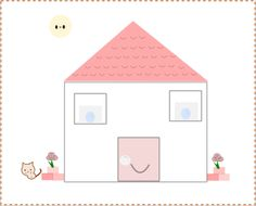 Worksheets for preschool   Cut and Paste a house