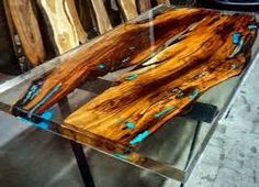 Image result for epoxy resin table